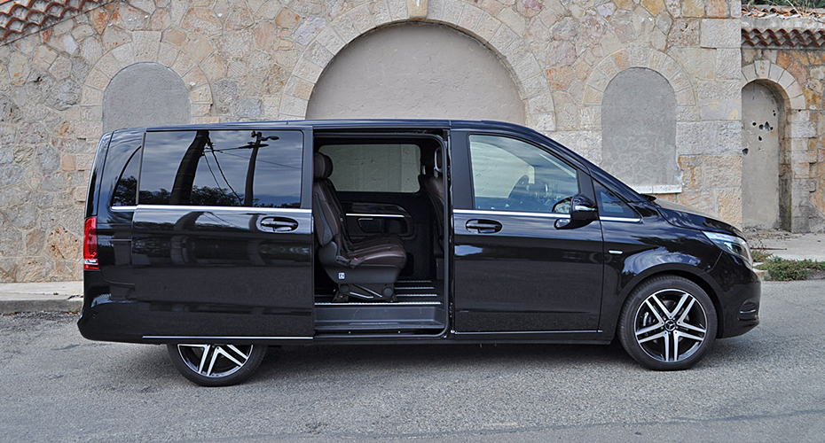 luxury van mercedes black stars limousines